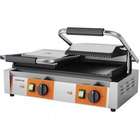 Profesjonalny kontakt grill podwójny, ryflowany, P 3.6 kW - Stalgast Caterina