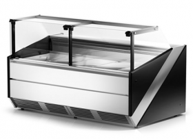 Nowoczesna lada chłodnicza RAPA L-X 134,5 cm