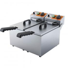 Profesjonalna frytownica elektryczna, 2-komorowa, Caterina, V 2x3.5 l, P 4 kW