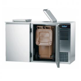 Schładzarka gastronomiczna do odpadów 2x120L, AAKM021200