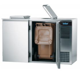 Schładzarka gastronomiczna do odpadów 2x240L, AAKM022400