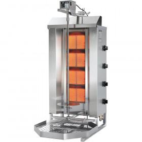 Profesjonalny kebab gazowy, gyros, P 17,5 KW, G 20