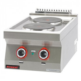 Kuchnia elektryczna 2 płyty okrągłe 2x2,6kW, Kromet, 700.KE-2