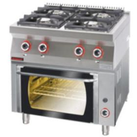 Gastronomiczna Kuchnia gazowa z piekarnikiem gazowym 700.KG-4/PG-1 Kromet