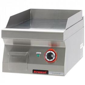 Gastronomiczna płyta grillowa gładka chromowana 400 mm 4,8kW- Kromet, 700.PBE-400G