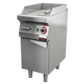 Płyta grillowa gazowa gładka chromowana 400 mm 5,5kW na podstawie szafkowej zamkniętej - Kromet,700.PBG-400G