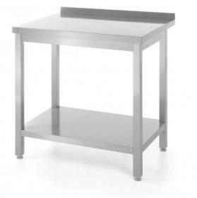 Stół roboczy przyścienny z półką - skręcany, o wym. 1800x700x850 mm