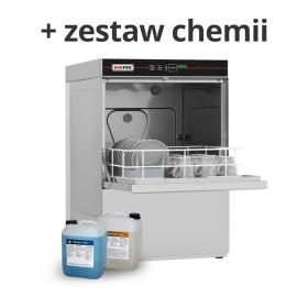 Zmywarka gastronomiczna do szkła z pompą opływu QQI 42P + chemia