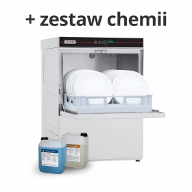 Zmywarka uniwersalna do szkła i naczyń z pompą odpływu QQI 52P + chemia