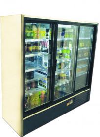 Szafa chłodnicza Mawi SCH 2000 R - drzwi przeszklone przesuwne, 3 skrzydłowe