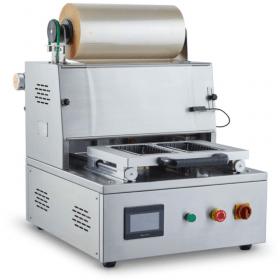 Półautomatyczne zgrzewarki tacek z matrycą oraz z funkcją gazu - CAS, Traysealer CDX-01