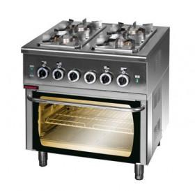 Kuchnia gazowa z piekarnikiem elektrycznym 1x2,5kW + 3x3,5kW + 6,5 kW (piekarnik)