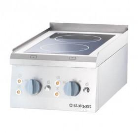 Gastronomiczna Kuchnia nastawna ceramiczna 2 polowa 400x700 5 kW