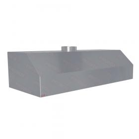 Okap nierdzewny gastronomiczny z filtrami, krócieć Ø 25 190-80-50 cm