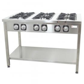 Gastronomiczna Kuchnia gazowa wolnostojąca 6-palnikowa, 49,2kW
