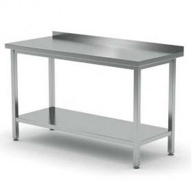 Stół roboczy przyścienny z półką - skręcany, o wym. 1600x700x850 mm