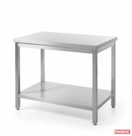Stół roboczy centralny z półką - skręcany, o wym. 1600x700x850 mm