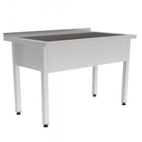 Nierdzewny stół gastronomiczny z basenem jednokomorowym 1000x600x850 mm
