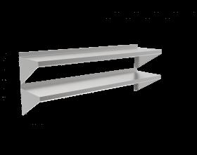 Półka dwupoziomowa nierdzewna 1200x300x660mm