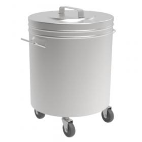 Gastronomiczny pojemnik nierdzewny na odpadki Ø380