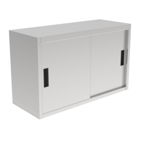 Gastronomiczna szafka wisząca z drzwiami suwanymi ze stali nierdzewnej 1000x400x600mm