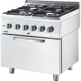 Trzon kuchenny gazowy ECO z piekarnikiem elektrycznym, 4-palnikowy, P 14+6.5 kW, U G30
