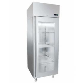 Szafa chłodnicza nierdzewna z drzwiami przeszklonymi o wym. 660x681x2050 mm