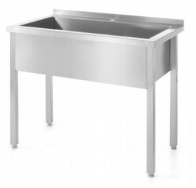 Stół z basenem jednokomorowym - spawany o wym. 800 x 700 x 850 mm