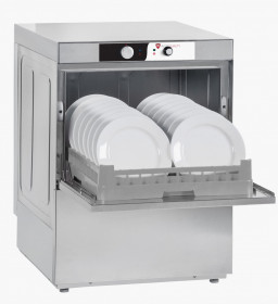Zmywarka gastronomiczna do naczyń | kosz 500x500 | 2-dozowniki | 6,2 kW | 400 V | RQ510 DD (RQ500D)