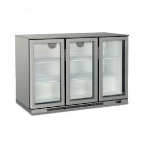 Witryna chłodnicza barowa, chłodziarka barowa 3-drzwiowa nierdzewna, poj. 303L PX-DBQ300SO