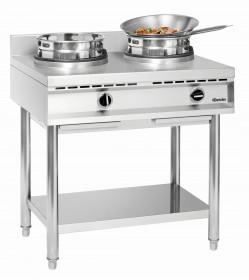 Kuchenka gastronomiczna gazowa wok, 2 palniki