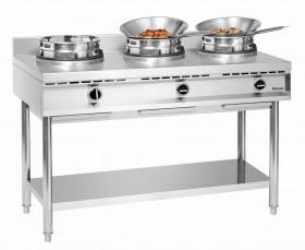 Kuchenka gastronomiczna gazowa wok, 3 palniki
