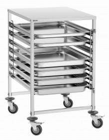 Wózek transportowy gastronomiczny na pojemniki GN