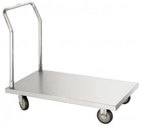 Wózek gastronomiczny transportowy platformowy, StCrNi