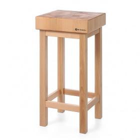 Kloc masarski drewniany na podstawie drewnianej 400x150