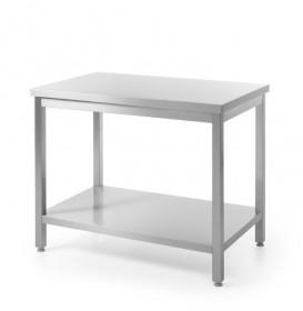 Stół nierdzewny roboczy centralny z półką - skręcany 1200x600x850mm