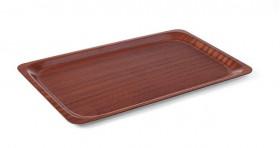 Taca antypoślizgowa drewniana - prostokątna GN 1/1