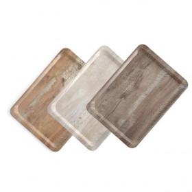 Taca do serwowania z nadrukiem drewna dąb 370x530