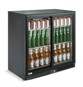 Mała szafa chłodnicza przeszklona na napoje 2-drzwiowa 228 l