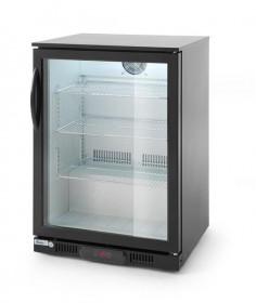 Mała szafa chłodnicza przeszklona, Lodówka na napoje 1-drzwiowa 138 L