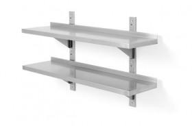 Półka wisząca przestawna, podwójna z dwiema konsolami, o wym. 1000x400x600 mm