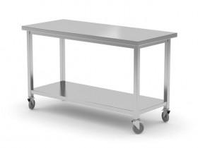 Stół jezdny z półką - spawany, o wym. 1000x600x850 mm