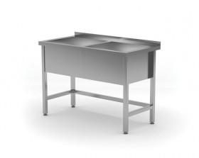 Stół z basenem dwukomorowym - wysokość komory h = 300 mm, o wym. 1200x600x850 mm