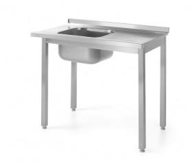 Stół z basenem jednokomorowym - wysokość komory h = 400 mm, o wym. 100x700x850 mm