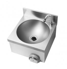 Umywalka bezdotykowa, wykonana z AISI 304, uruchamianie kolanem, 400x400 mm
