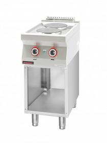 Kuchnia elektryczna 2 płyty okrągłe 2x2,6kW na podstawie szafkowej otwartej
