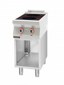 Kuchnia indukcyjna 2x3,5kW na podstawie szafkowej otwartej