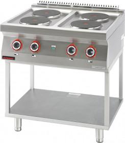Kuchnia elektryczna 4 płyty okrągłe 4x2,6kW na podstawie szkieletowej