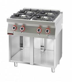 Kuchnia gazowa 4 - palnikowa na podstawie szafkowej otwartej