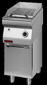 Lawa grill 400 mm 7kW na podstawie szafkowej zamkniętej